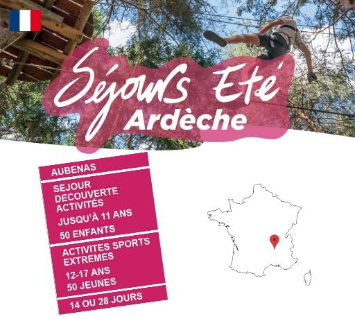 Séjours Eté - Aubenas - Ardèche - Le Temps Des Copains - LTC