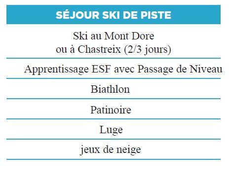 Activités 2 - Séjours Hiver - Auvergne - La Bourboule - Le Temps Des Copains - LTC