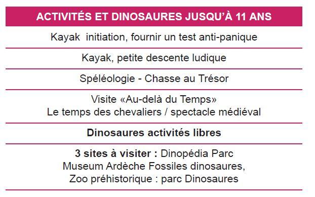 Activités 1 - Séjours Eté - Aubenas - Ardèche - Le Temps Des Copains - LTC
