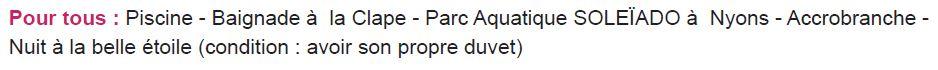 Activités 3 - Séjours Eté - Aubenas - Ardèche - Le Temps Des Copains - LTC